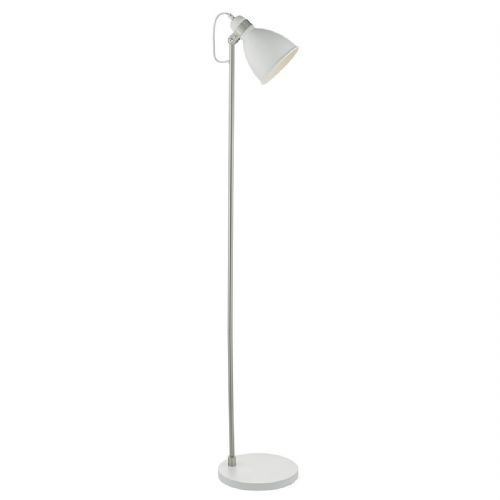 Frederick Floor Lamp White/ Satin Chrome